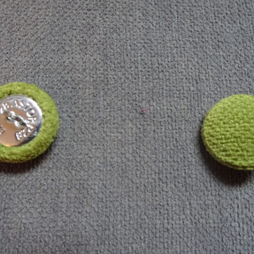 Bouton recouvert tissu